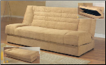 Tan Microfiber Sofa Bed By Coaster
