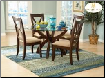 Stardust Collection - Round Glass Top Dining Room Set (SKU: HE-5312)
