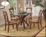 Star Hill  Collection - Round Glass Top Dining Room Set (SKU: HE-5316-721)