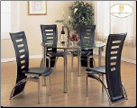 Skyline Collection - Glass Top Dinette Set (SKU: HE-5319)