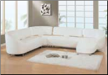 Sectional Leather Sectional 553 in White Color by Global Furnither USA (SKU: GL-553-WSECSET)
