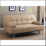 Cybil Beige Finish Adjustable Sofa (SKU: AC-5855)