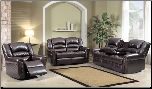684  Bonded Leather Dual Reclining 2 PC Sofa Set (Sofa and Loveseat)
