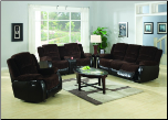 Johanna Chocolate Corduroy 2 Piece Reclining Sofa, Loveseat Set (SKU: CO 600363-LR)