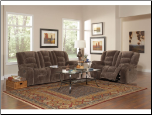 Charlie Reclining Sofa in Brown Sabe Fabric by Coaster - 600991