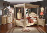 Sienna - Elegant Solid Wood Traditional Style Bedroom Complete Bedroom Set with Panel Bed (SKU: MR-Sienna -QCSET)
