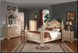 Sienna - Elegant Solid Wood Traditional Style Bedroom Complete Bedroom Set with Panel Bed (SKU: MR-Sienna -QSET)
