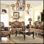610 Treaditional  2 PC Living Room Set (Sofa and Loveseat)