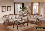 611   Treaditional  2 PC Living Room Set (Sofa and Loveseat)