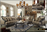 618  Treaditional  2 PC Living Room Set (Sofa and Loveseat)
