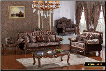 French Provincial Styled Imported Fabric 2 PC Sofa Set (Sofa and Loveseat)