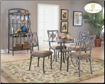 Meadow Collection - Round Glass Top Dinette Set (SKU: HE-645)