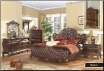 Venice - Elegant Solid Wood Traditional Style Bedroom Complete Bedroom Set with Panel Bed (SKU: MR-Venice -QSET)