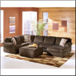 Vista - Chocolate Sectional Set by Signature Design (SKU: AB-68404-SEC-SET)