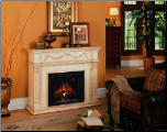 Lexington (2 pc)  Fireplace