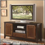 Casual TV Console with Beveled Doors