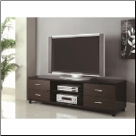 4 Drawer Two Tone TV Stand with 2 Shelves