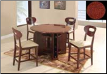 Marbled Top GL-7010 Bar Room Table Set By Global Furnither USA (SKU: GL-7010-DSET)