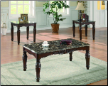 3 Pc Coffee Table Set Cocoktail/2 Ends Cst-701554