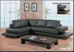 Modern Dark Brown Leather Sectional By Global Furniture ( 729 ) (SKU: GL-729-SECSET)