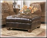 Contemporary Styled Storage Ottoman with Thick Block Feet (SKU: AB-76700-)