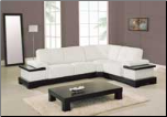 Practical White Leather Modern Sectional Set By Global Furniture (SKU: GL-771F-WSECSET)