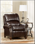 DuraBlend  Mahogany- Low Leg Recliner Signature Design by Ashley Furniture (SKU: AB- 77301-LR-R)