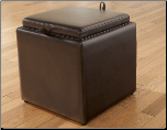 Ivory, Scarlett, Chocolate or Black Colored Ottoman with Flip Top, Cubit Collection Signature Design by Ashley Furniture