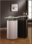Bar Cabinet Silver Black By Global Furniture