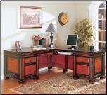 Chomedey Traditional L-Shaped Desk by Coaster