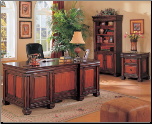 Chomedey Traditional Double Pedestal Executive Computer Desk by Coaster