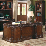 Union Hill Double Pedestal Desk with Leather Insert Top by Coaster (SKU: CO-800800)