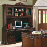 Union Hill Computer Desk & Hutch with Detailed Carvings by Coaster (SKU: CO-800801BH)