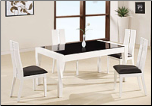 Contrasting Black and White Contemporary Dining Room Set By Global Furnither USA