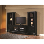 Black Entertainment Wall Unit