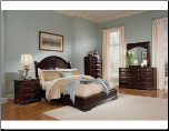 Dark Brown Traditional Style Bedroom Set with Low Profile Bed, 'Grandover' Collection by Homelegance. (SKU: HE-858LP-KBS)
