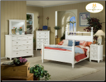Traditional Country Cottage Style Bedroom Set with Panel Bed, 'Hanna' Collection by Homelegance. (SKU: HE-889KBS)