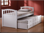 Mill Creek White Full Bed & Twin Trundle w/ Drawers (SKU: AC-9143)