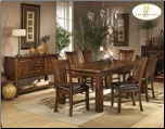 Fusion Collection - Dining Room Set (Dark Oak)