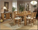 Fusion Collection - Dining Room Set (Light Oak)
