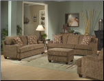Contemporary Living Room Set with Brown Tone Chenille Upholstery, 'Oasis Bay' Collection by Homelegance.