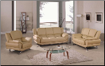 Global  - Modern Sofa and Loveseat Set with Leather Finish Set by Global USA (SKU: GL-L9908-CAPSET)