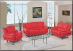 Global  - Modern Sofa and Loveseat Set with Leather Finish Set by Global USA (SKU: GL-L9908-RSET)