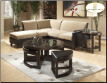 Modular Sectional in Contemporary Style, 'Glengate' Collection by Homelegance. (SKU: HE-9916BP-SECTIONAL)