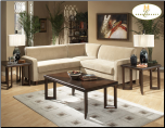 Modular Sectional in Contemporary Style, 'Glengate' Collection by Homelegance. (SKU: HE-9916PT-SECTIONAL)