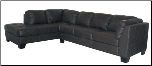 Sectional with Merlot Finish Wood Base, 'Tufton' Collection by Homelegance Furniture. (SKU: HE-9958BK-SECTIONAL)