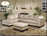 Sectional with Merlot Finish Wood Base, 'Tufton' Collection by Homelegance Furniture. (SKU: HE-9958IV-SECTIONAL)