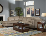 Sectional with Merlot Finish Wood Base, 'Tufton' Collection by Homelegance Furniture. (SKU: HE-9958PT-SECTIONAL)