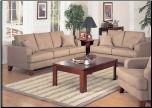 Transitional Living Room Set in Durable Peat Microfiber, 'Mai Tai' Collection by Homelegance. (SKU: HE-Maitai9971PT-LVNGSET)