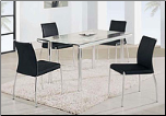 Metal and Glass Constructed Elegant Sturdy Dining Room Set by Global Furnither USA (SKU: GL-A818LDT-BLSET)